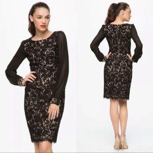 Gorgeous Eliza J Black Lace Jeweled Dresss